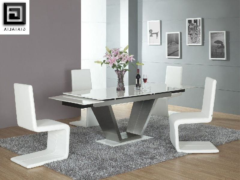 Best And Newest Contemporary Extending Dining Tables Intended For Viva White Contemporary Marble Extending Dining Table – £ (View 13 of 20)