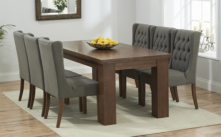 Best And Newest Dark Brown Wood Dining Tables In Dark Wood Dining Table Sets (View 3 of 20)