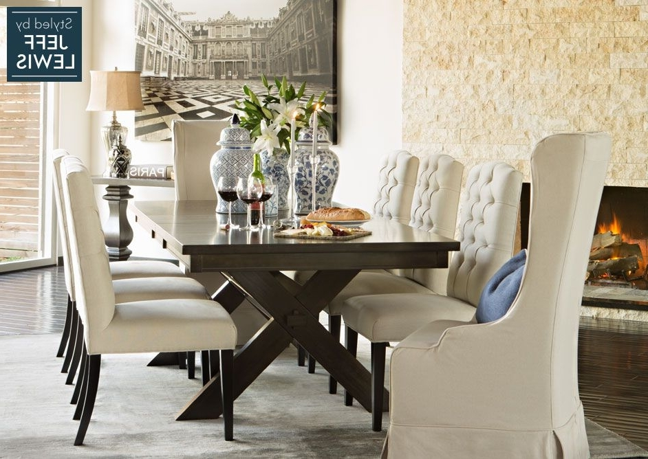 Best And Newest Dining Room Living Spaces: Laidback Luxury Styledjeff Lewis Pertaining To Chapleau Ii 9 Piece Extension Dining Tables With Side Chairs (View 5 of 20)