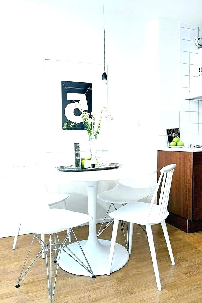 Best And Newest Dining Table Small Spaces Apartment Dining Set Posh Apt Size Dining For Small White Dining Tables (View 3 of 20)