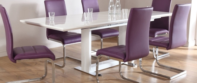 Best And Newest Dining Tables And Purple Chairs For Stylish Dining Table Sets For Dining Room » Inoutinterior (View 1 of 20)