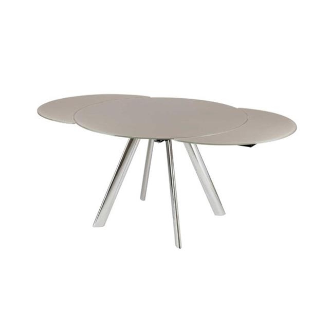 Best And Newest Glass Round Extending Dining Tables With Myles Circular Extending Dining Table (View 3 of 20)