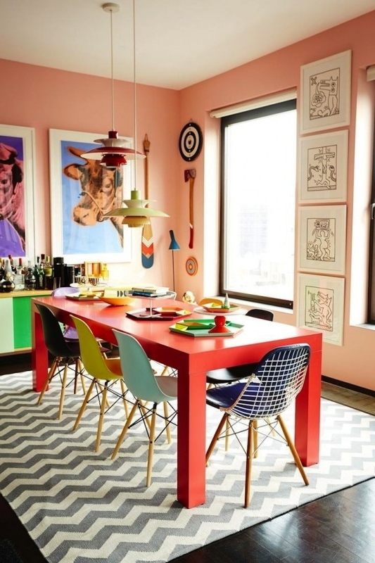 Best And Newest Guide To Mix Match Dining Table And Chairs – Fif Blog Regarding Colourful Dining Tables And Chairs (View 2 of 20)