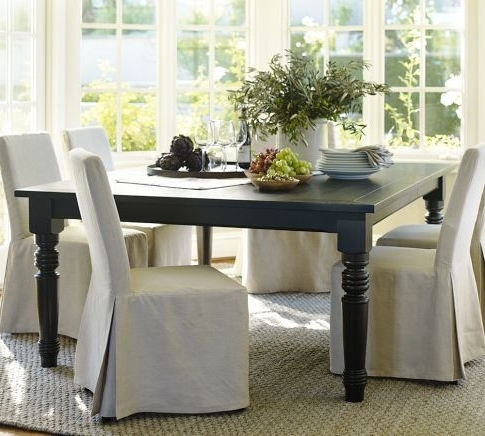 Best And Newest I Am Dying To Have This Black Square Dining Table From Pottery Barn With Ina Pewter 60 Inch Counter Tables With Frosted Glass (View 4 of 20)