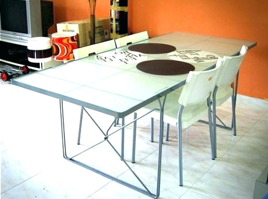 Best And Newest Ikea Round Glass Top Dining Tables Regarding Ikea White Dining Table Top Chandelier Ikea White Glass Top Dining (View 6 of 20)