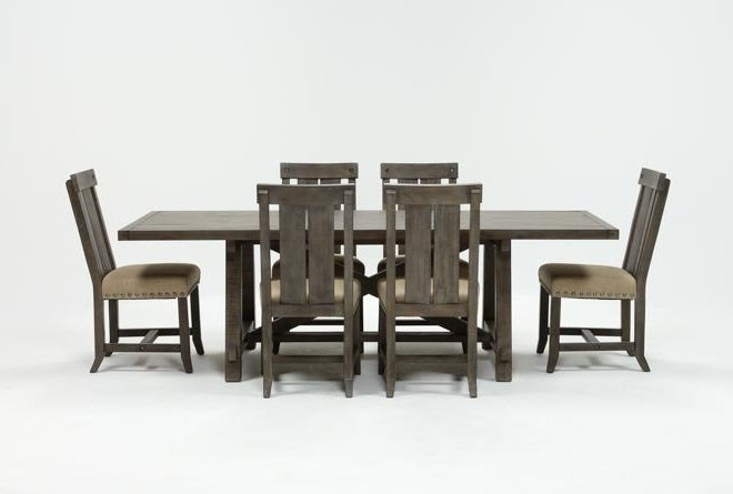 Best And Newest Jaxon Grey 7 Piece Rectangle Extension Dining Set W/wood Chairs Regarding Jaxon Grey 6 Piece Rectangle Extension Dining Sets With Bench & Wood Chairs (View 4 of 20)