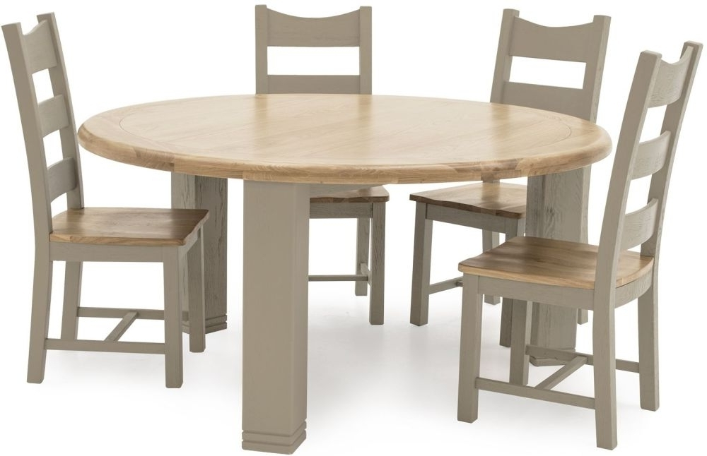 Best And Newest Logan Dining Tables Pertaining To Buy Vida Living Logan Taupe Painted Round Fixed Top Dining Table (View 2 of 20)