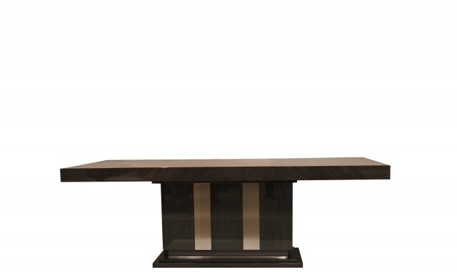 Best And Newest Marbella Dining Tables Regarding Marbella  240Cm Oak High Gloss Dining Table – Fishpools (View 1 of 20)
