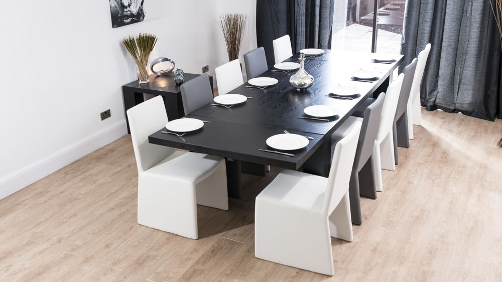 Best And Newest Modern Chunky Black Ash Dining Set (View 3 of 20)