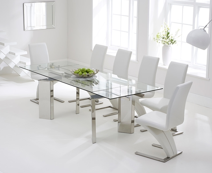 Best And Newest Mozart 160Cm Extending Glass Dining Table With Hampstead Z Chairs With Regard To Extending Glass Dining Tables (View 3 of 20)