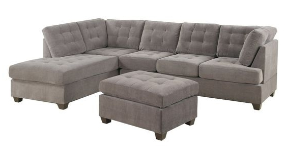 Best And Newest Norfolk Grey 3 Piece Sectional W/laf Chaise In Norfolk Grey 3 Piece Sectionals With Laf Chaise (View 1 of 15)