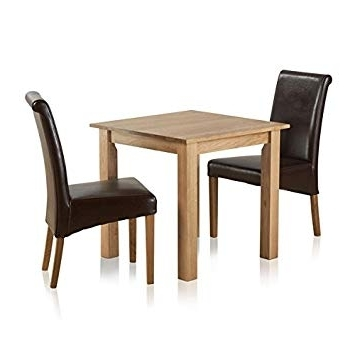Best And Newest Oak Furniture Land Hudson Natural Solid Oak Dining Set – 2Ft 6 Regarding Hudson Dining Tables And Chairs (View 15 of 20)