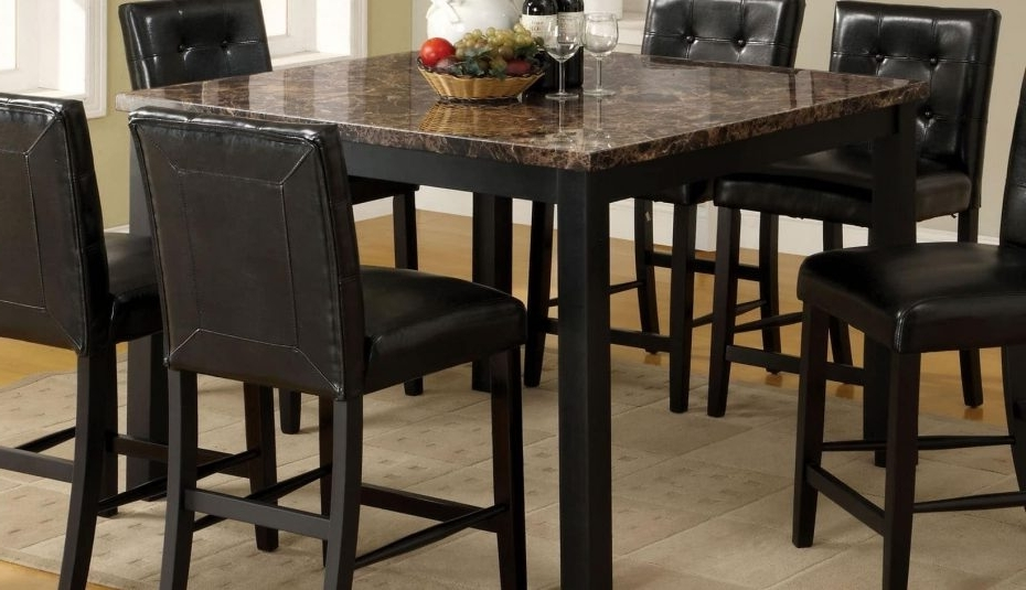 Best And Newest Palazzo Rectangle Dining Tables Within Normandie Height Dining Black Stools Pub White Chair Chairs Seats (View 3 of 20)