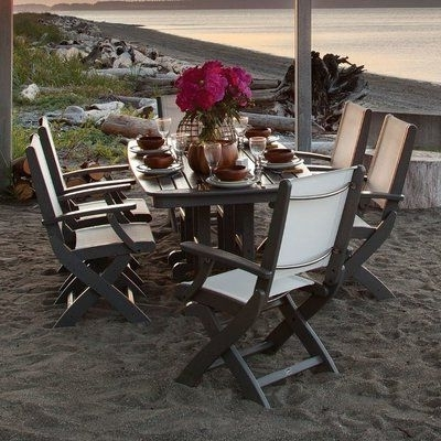 Best And Newest Polywood® Coastal 7 Piece Dining Set Finish: Slate Grey (View 3 of 20)
