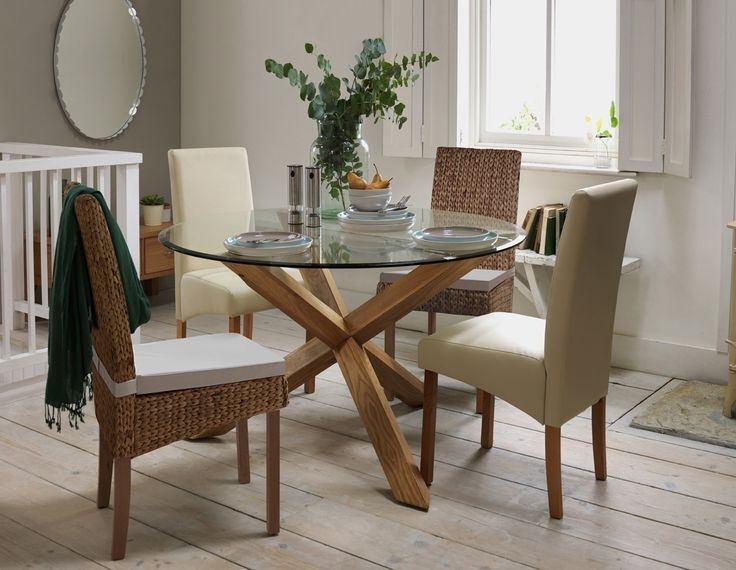 Best And Newest Round Glass And Oak Dining Tables Regarding Round Oak And Glass Dining Table The 69 Best Argos At Home Images On (View 9 of 20)
