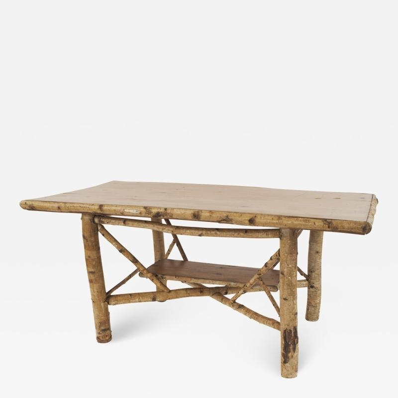 Best And Newest Rustic Adirondack (1St Half 20Th Cent) Rectangular Birch Wood Dining With Birch Dining Tables (View 3 of 20)