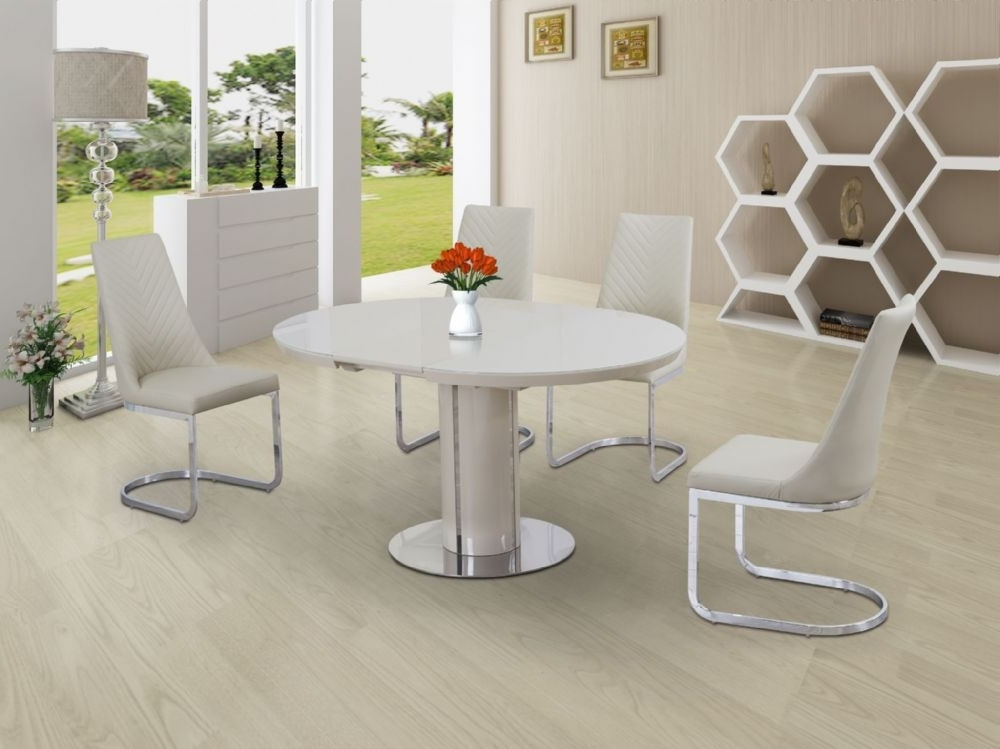 Best And Newest Small Round Extending Dining Tables Pertaining To Buy Cream Small Round Extendable Dining Table Today (View 1 of 20)