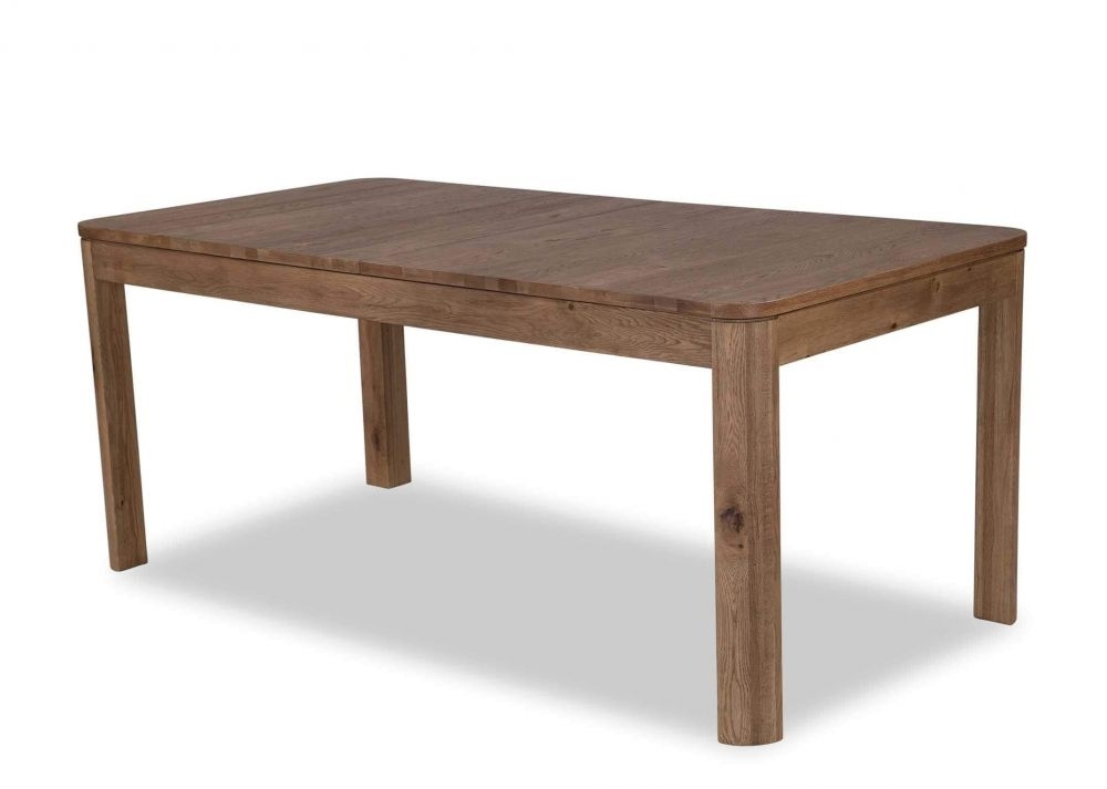 Best And Newest Solid Natural Wild Oak Extending Table – Trivento – Ez Living Furniture Within Dining Tables With Large Legs (View 1 of 20)
