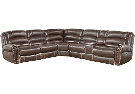 Best And Newest Travis Dk Grey Leather 6 Piece Power Reclining Sectionals With Power Headrest & Usb In Donelle Brown Leather 6 Pc Power Reclining Sectional (View 2 of 15)