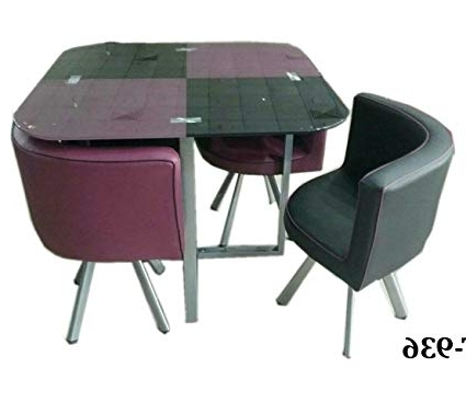 Best And Newest Unique360 Zampa Compact Dining Table Set (Purple And Black) 4 Seater With Compact Dining Sets (View 1 of 20)