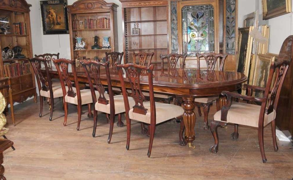 Best And Newest Victorian Dining Table Set Chippendale Chairs Set Suite Mahogany Intended For Mahogany Dining Tables Sets (View 16 of 20)