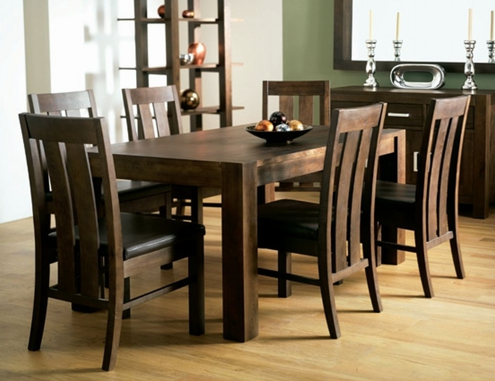 Best And Newest Walnut Dining Tables And Chairs Intended For Walnut Dining Room Chairs (View 2 of 20)