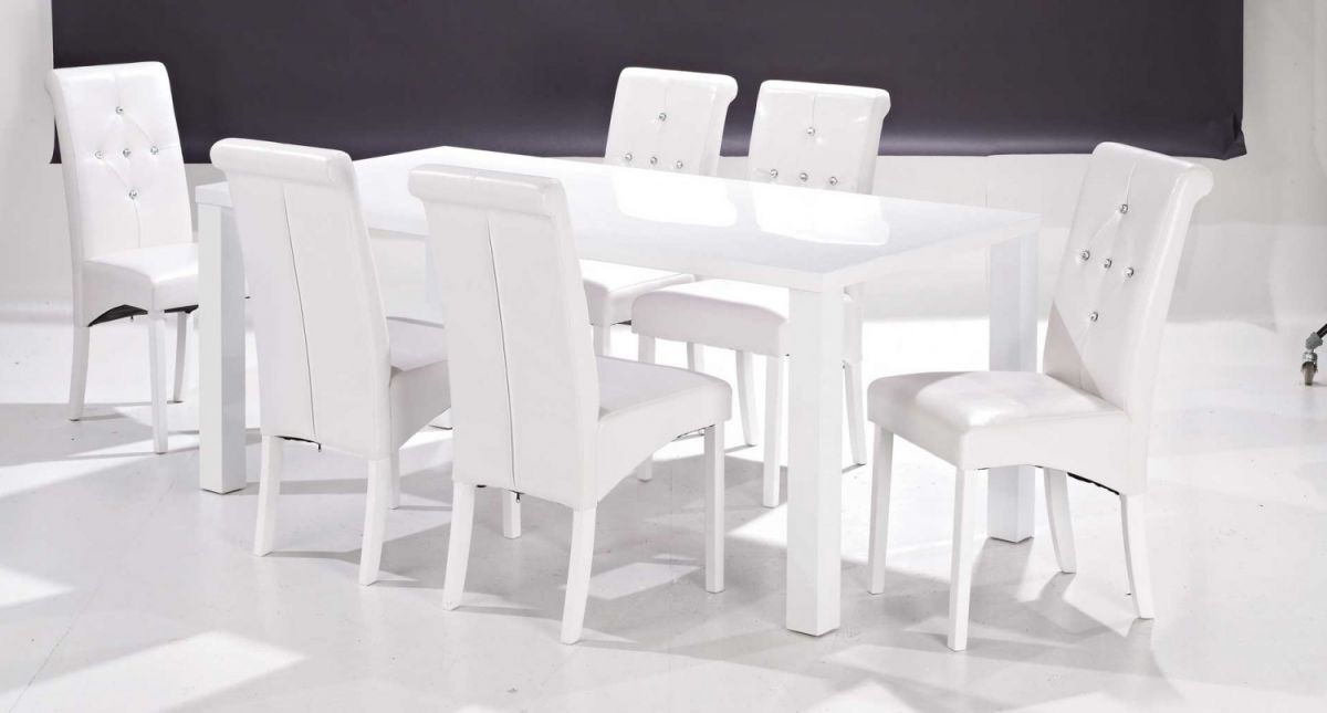 Best And Newest White Gloss Dining Table And 6 Chairs – Strawberryperl Inside White Gloss Dining Tables And 6 Chairs (View 19 of 20)