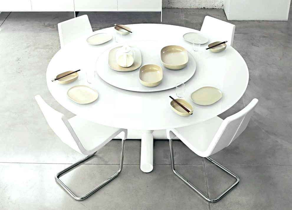 Best And Newest White Round Dining Tables White Dining Table And Chairs Amazon With Regard To White Circle Dining Tables (View 2 of 20)