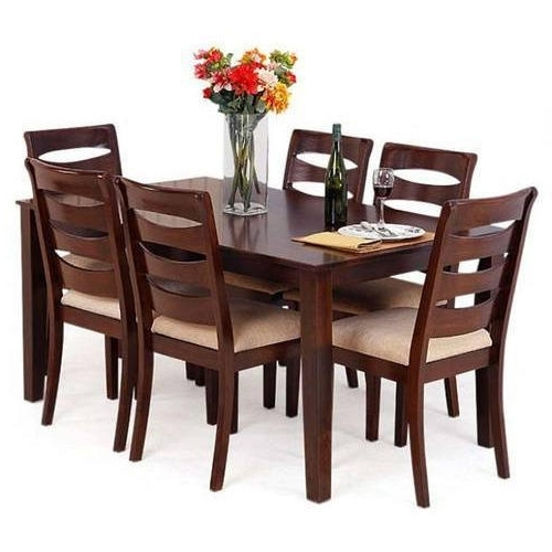 Best And Newest Wooden Dining Sets With Regard To Rubber Wooden Dining Table At Rs 48000 /set (View 1 of 20)