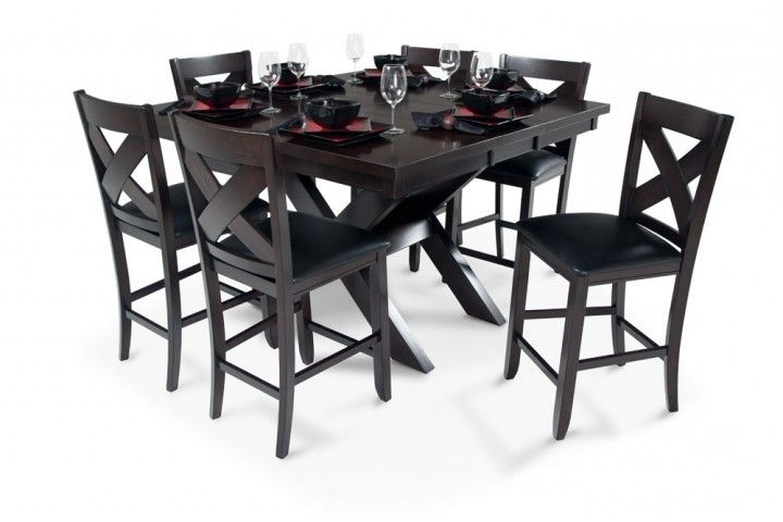 Best And Newest Wyatt 6 Piece Dining Sets With Celler Teal Chairs Within X Factor Pub Table At Bob's Discount Furniture (View 4 of 20)