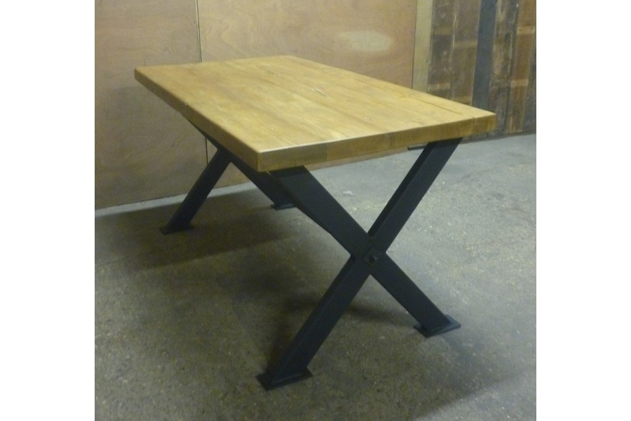 Big X Industrial Style Dining Table (View 4 of 20)