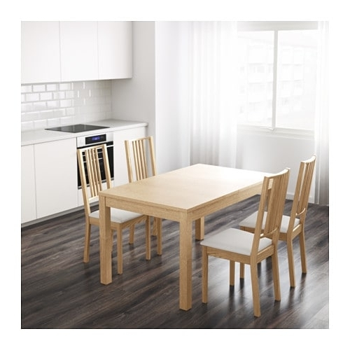 Bjursta Extendable Table Oak Veneer 140/180/220 X 84 Cm – Ikea Intended For Well Liked Extendable Dining Tables (View 2 of 20)