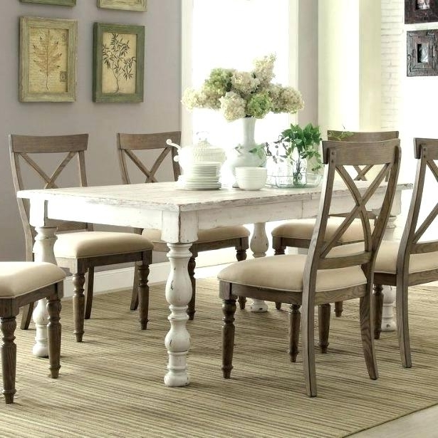 Black And White Dining Room Sets White Dining Room Table Medium Size With 2018 White Dining Tables (View 17 of 20)