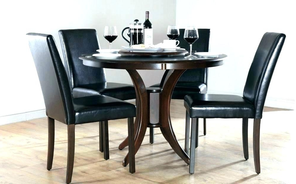 Black Circular Dining Tables For Popular Reference Circle Dining Table Circular Glass Set – Arthritismom (View 6 of 20)