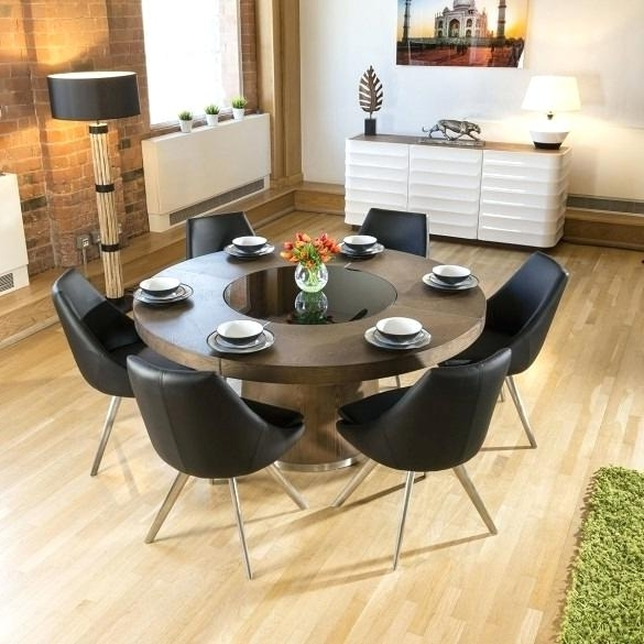 Black Circular Dining Tables With Well Known Circular Dining Table For 6 Table For 6 Circle Dining Table Round (View 8 of 20)