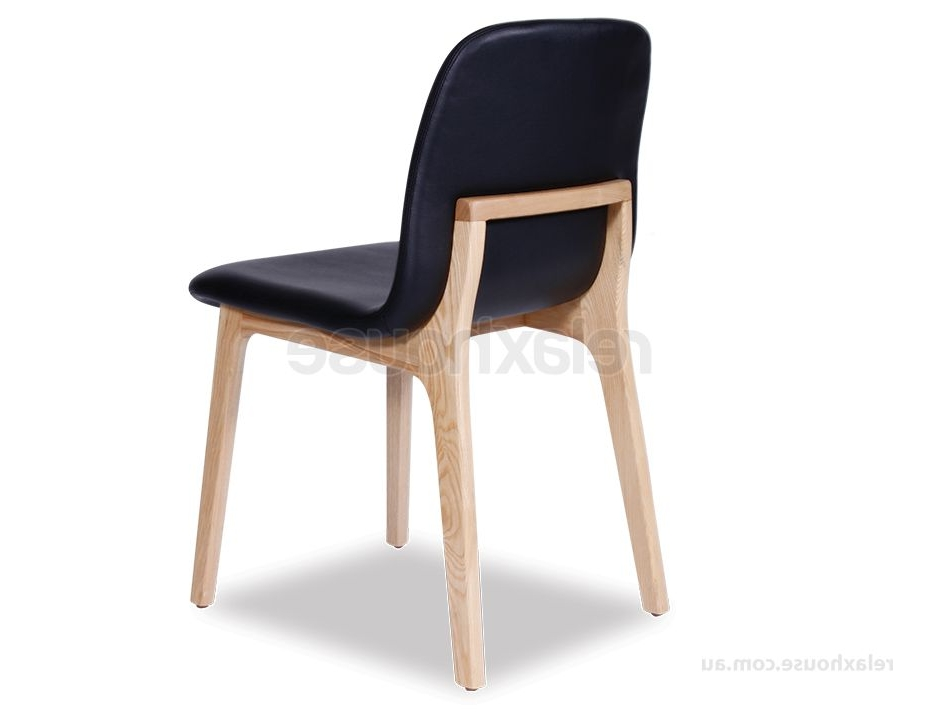 Black Dining Chairs Pertaining To Well Liked Scandinavian Upholstered Timber Dining Chair (View 5 of 20)