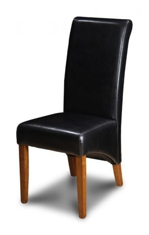 Black Dining Chairs With Latest Black Dining Room Leather Chair (View 16 of 20)
