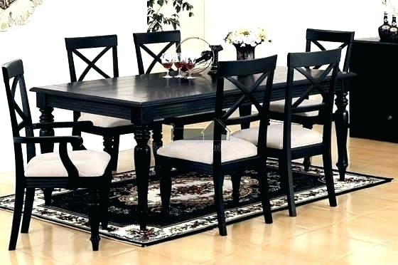Black Dining Room Furniture Black Dining Table And Chairs Sets Black With Current Black Dining Tables (View 2 of 20)
