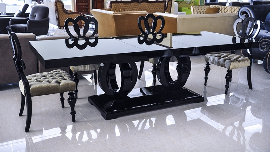 Black Dining Tables Regarding Well Known Product Printer Friendly Page (View 4 of 20)