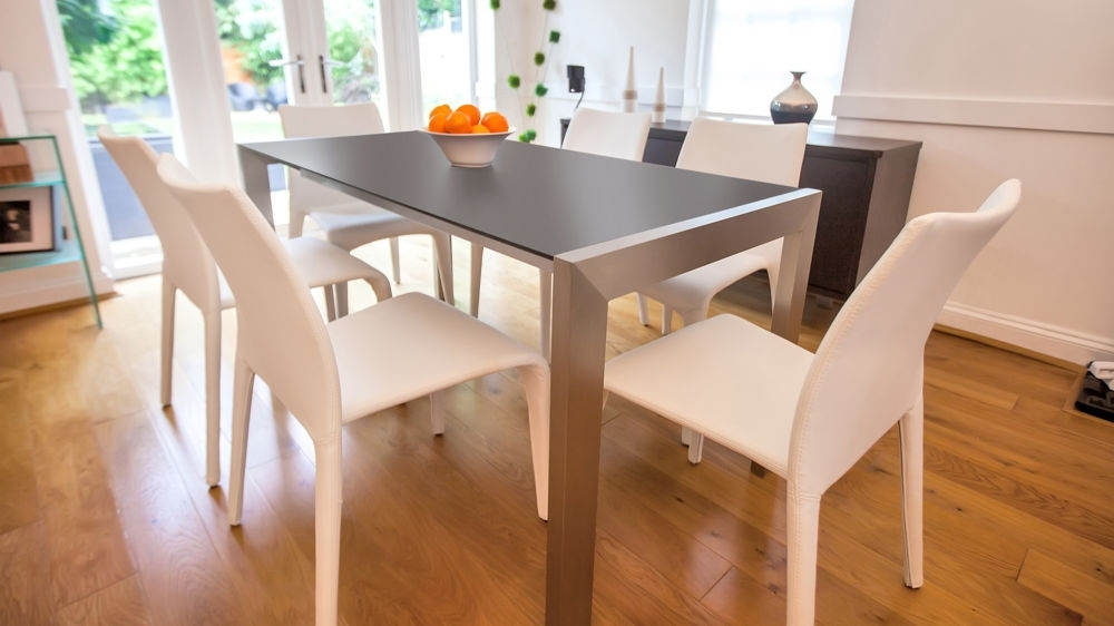 Black Extendable Dining Tables And Chairs Inside Most Popular Modern Matt Black Extending Dining Table (View 2 of 20)