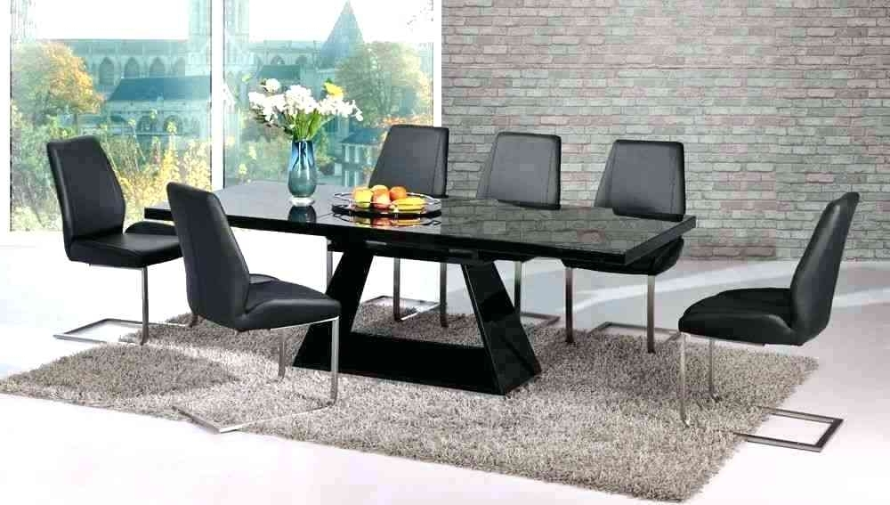 Black Extendable Dining Tables Sets Inside Most Up To Date Hi Gloss Dining Table Sets 6 High Gloss Dining Table Modern High (View 17 of 20)