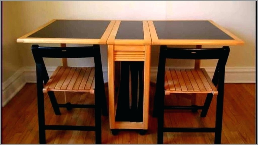 Black Folding Dining Tables And Chairs Intended For Most Recently Released Folding Dining Table And Chairs Best Of Trommel Portable Wooden (View 9 of 20)