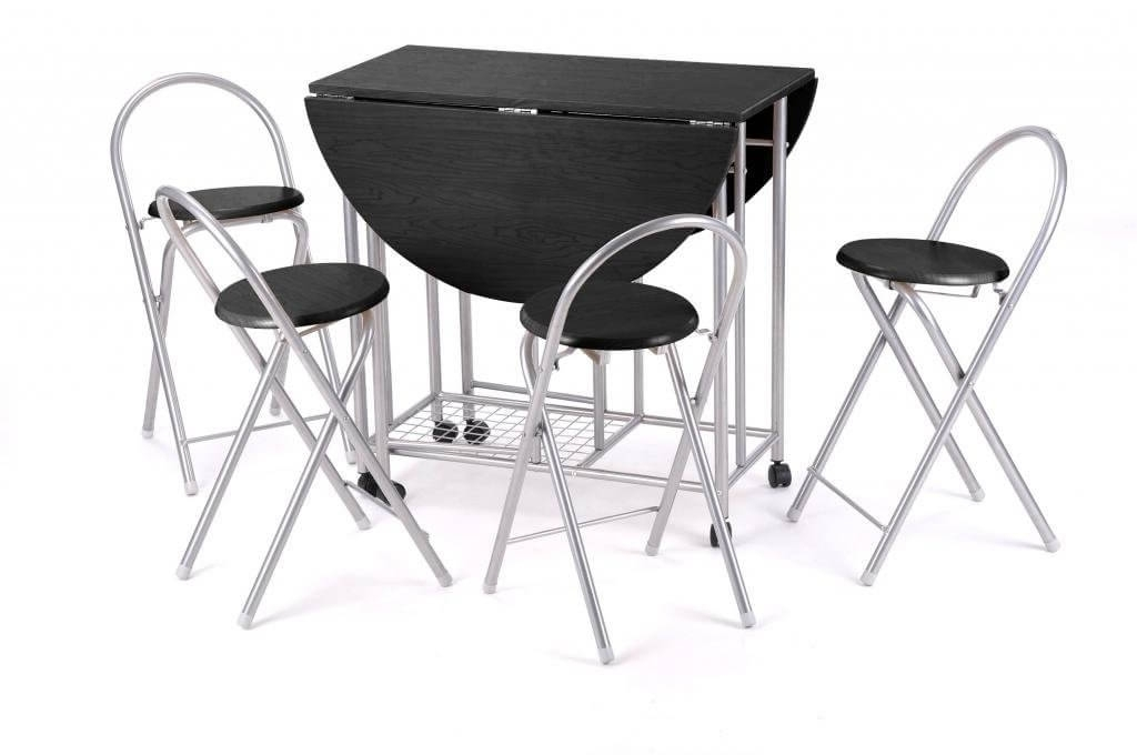 Black Folding Dining Tables And Chairs Intended For Preferred Best Folding Tables & Chairs – Reviews Uk 2017 – (View 6 of 20)