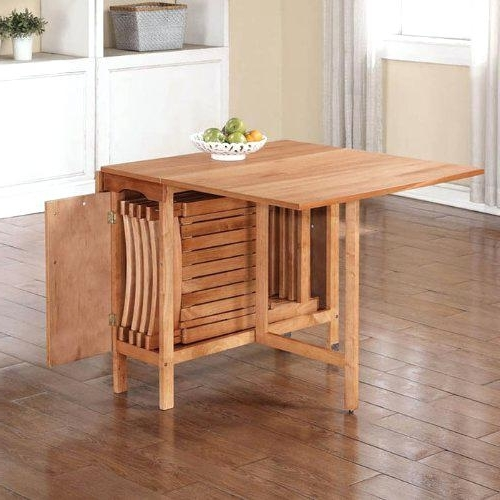 Black Folding Dining Tables And Chairs With Regard To Popular Pictures Gallery Of Captivating Folding Dining Table And Chairs Set (View 9 of 20)