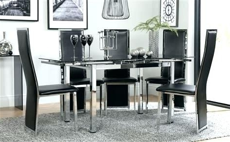 Black Glass Dining Tables 6 Chairs Regarding Favorite 6 Chair Dining Table Set – Vietfirsttour (View 13 of 20)