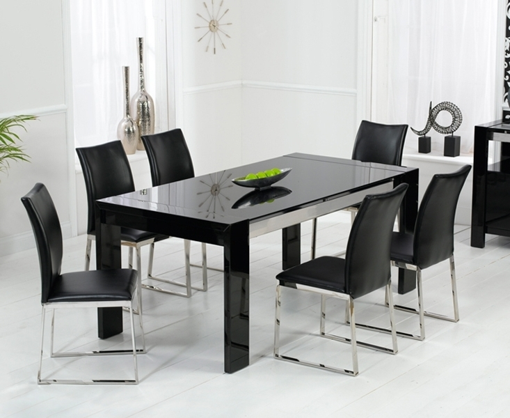 Black Gloss Dining Tables And 6 Chairs Regarding Best And Newest Bujovky Black Gloss Dining Table And 6 Chairs 2018 John Lewis Dining (View 6 of 20)