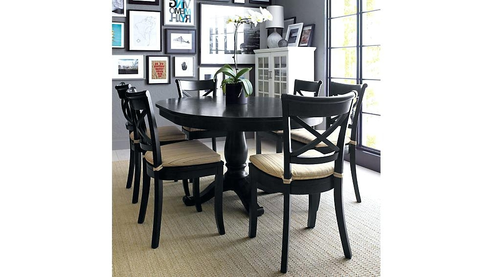 Black Round Dining Table With Leaf Round Extendable Dining Table For Well Known Extendable Round Dining Tables Sets (View 18 of 20)