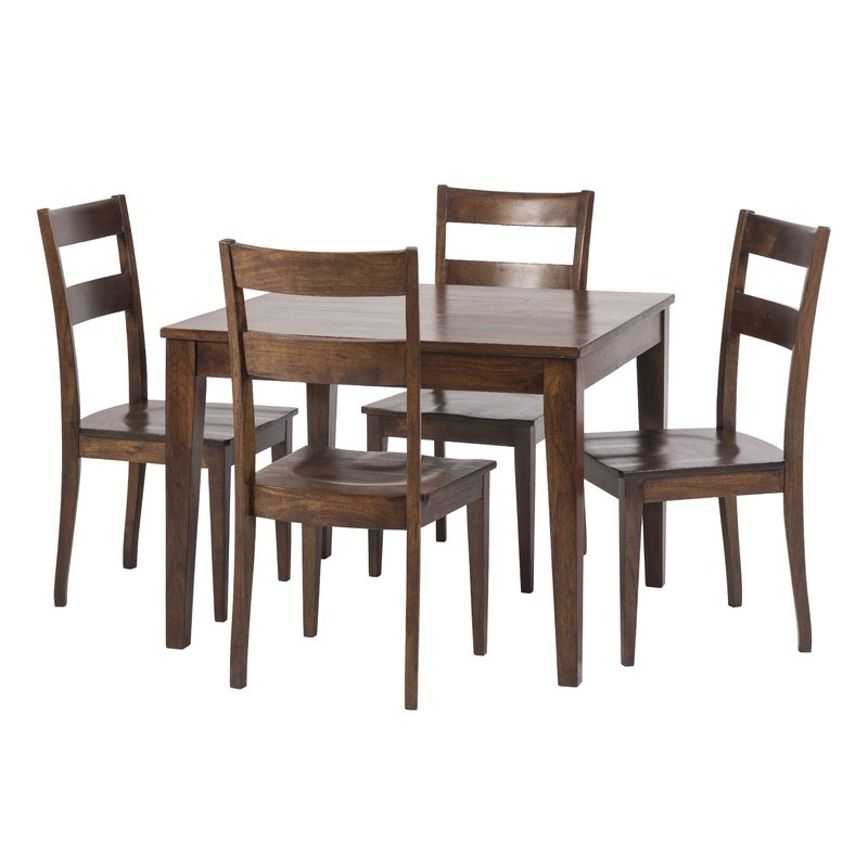 Bloomsbury Market Gambino Rustic 5 Piece Dining Set (View 1 of 20)