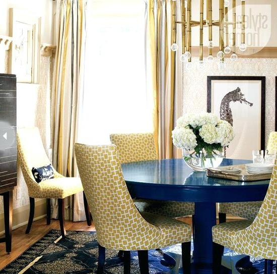 Blue Dining Tables With Regard To Latest Navy Blue Round Dining Table – Ilovemyguitar (View 6 of 20)