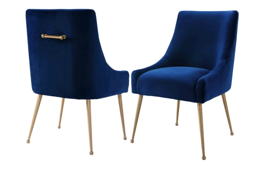 Blue Velvet Dining Chairs (View 4 of 20)